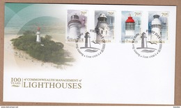 Australia FDC 2015  Lighthouses -  100 Years Of Commonwealth Management - Pictorial Postmark Safety Bay WA