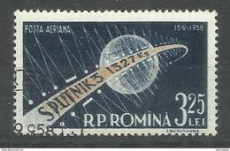 """Rumänien 1733 """"1 Briefmarke Zum Start Des 3. Russ. Erdsatelliten Sputnik 3. """" Gestempelt, Mi. 2,00 - 1948-.... Républiques"""