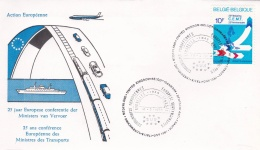 Belgium FDC 1978 European Conference For Transport Ministers (T17-24)