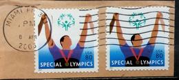 SPECIAL OLYMPICS-80 C-VARIETY-ERROR-POSTMARK MIAMI-USA-2003 - Sommer 2000: Sydney - Paralympics