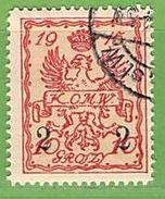 MiNr.5 O  Deutschland Deutsche Besetzg,1.WK Deutsche Post In Polen,Stadpost - Bezetting 1914-18