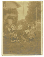 Repas Chez Le Garde-barrière De SERMIZELLES -1911- [ Actuel 7 Allée Des Tilleuls) Photo Originale Format 8.5x12 - - Altri Comuni