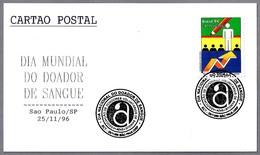 DIA MUNDIAL DEL DONANTE DE SANGRE - World Blood Donor Day. Sao Paulo SP, Brasil, 1996