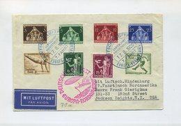 1936 3. REICH  ZEPPELIN HINDENBURG 7. NORDAMERIKAFAHRT BRIEF BORDPOST SIEGER 430A
