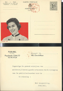 Publibel Neuve N° 1327 + P.010 (30 C)  (Miss Publibel ) + Repiquage Verso De La Firme Publibel - Publibels