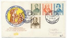 ALLEMAGNE - Enveloppe FDC => Helfer Der Menschheit 1955 - FDC: Covers