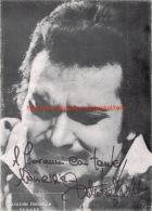 Salvatore Fisichella Opera Signed Photo 17,5x24,5cm - Autogramme