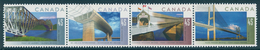 CANADA 1995 20th World Road Congress, Montreal. Bridges Set (Horiz Se-tenant Strip Of 4v), XF MNH, MiNr 1504-7, 1650-3