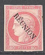 Réunion: Yvert N°12*; Belles Marges; Petit Clair - Neufs