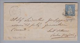 Heimat CH TI Malvaglia 1872-12-15 Strahlenstempel Auf Briefhülle - Lettres & Documents