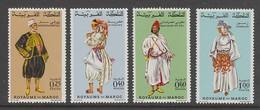 SERIE NEUVE DU MAROC - COSTUMES N° Y&T 565 A 568