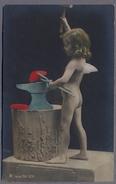 Angelots  Cherub  Petite Fille Akt  1903y.  D916 - Angeli
