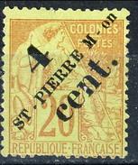 Sain Pierre Et Miquelon 1891-92 N. 41 C. 4 Su C. 20 MH Cat. € 15 - St.Pierre & Miquelon