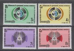 SERIE NEUVE DE LA REP. KHMERE - JOURNEE MONDIALE DES TELECOMMUNICATIONS N° Y&T 274 A 277