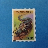 1994 TANZANIA FRANCOBOLLO USATO STAMP USED - ANIMALI PREISTORICI 120
