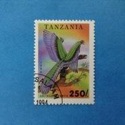 1994 TANZANIA FRANCOBOLLO USATO STAMP USED - ANIMALI PREISTORICI 250