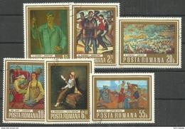 "Rumänien 3150-55 ""6 Briefmarken Im Satz Verschied. Moderner Gemälde Berühmter Künstler  "" Gestempelt, Mi. 1,30 € - 1948-.... Républiques"