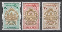 SERIE NEUVE DE LA REP. KHMERE - ARMOIRIES N° Y&T 281 A 283