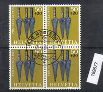 Schweiz PP 1975 Zst. 168 / Mi. 1055 Viererblock Ersttagsstempel
