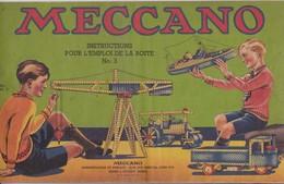 MECCANO - Livret D'Instructions Pour L'emploi De La Boîte N°.3 / Années 40-50 / Superbe - Meccano