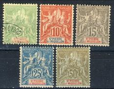 Saint Pierre Et Miquelon 1900-08 Serie N. 72-77 (manca N. 76, N. 72 Usato) MLH Cat. € 207 - St.Pierre & Miquelon