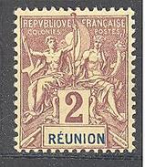 Réunion: Yvert N°33* - Réunion (1852-1975)