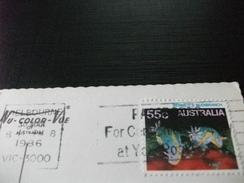 STORIA POSTALE FRANCOBOLLO COMMEMORATIVO  AUSTRALIA MELBOURNE PIN UP PELLICOLA FILM CON IMMAGINI VICTORIA - Melbourne