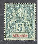 Réunion: Yvert N°35* - Neufs