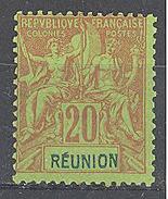 Réunion: Yvert N°38* - Neufs