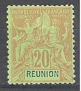 Réunion: Yvert N°38*; Clair - Neufs