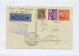 1930 Niederlande Zeppelin LZ 127 Rückfahrt Schöne Ansichtskarte Mi 173, 213, 228 SIEGER 99A - Covers & Documents