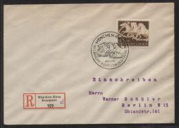 Dt. Reich - MiNr. 815 Als EF Auf R-Brief Mit SST MÜNCHEN-RIEM 26.7.1942 - DAS BRAUNE BAND VON DEUTSCHLAND 1941