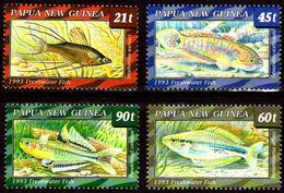 PAPUA NEW GUINEA 1993 Native Freshwater Fishes, Marine Life, Fauna MNH