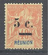 Réunion: Yvert N°52(*) - Neufs