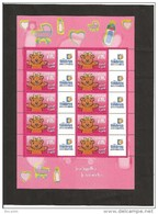 MINIFEUILLE     F 3432    LOGO  TIMBRES PERSONNALISES