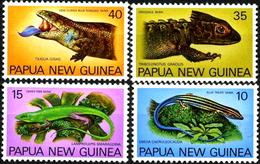 PAPUA NEW GUINEA 1978 Lizards, Reptiles, Skinks, Fauna MNH