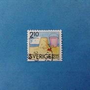 1989 SVEZIA SVERIGE FRANCOBOLLO USATO STAMP USED - POSTA ORDINARIA 2,10 Kr - Oblitérés