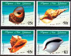 PAPUA NEW GUINEA 2000 Sea Shells, Mollusks, Fauna MNH