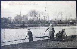 Carte Postale. Amiens, Extraction De La Tourbe à Rivary - Amiens