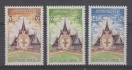 SERIE NEUVE DE LA REP. KHMERE - CONSTITUTION N° Y&T 329 A 331 - Kampuchea