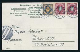 Ansichtkarte Von Soetersdalen Nach Hannover (Deutschland) Mit MiNr. 51 , 53, 53 PKXP-Stempel Von 1903 - Schweden