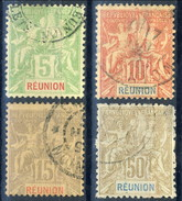 Reunion 1900-05 Quattro Valori Della Serie N. 46-51 Usati Cat. € 72 - Used Stamps