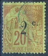 Reunion 1893 N. 45B C. 2 Su C. 20 (III Tipo) Usato Cat. € 30 - Used Stamps