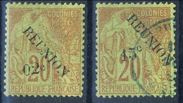 Reunion 1891 Serie N. 29 MH - N. 30 Usato Cat. € 43 - Unused Stamps