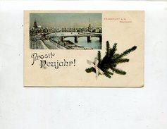 Neujahr / 1907 / Color-AK, Abb. Frankfurt (Gesamtansicht) (11179) - New Year