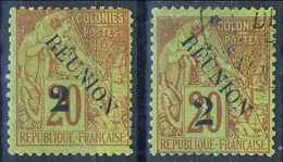Reunion 1891 N. 31 MH E 31A Usato Cat. € 14 - Unused Stamps