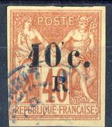 Reunion 1885-86 N. 9 C. 10 Su C. 40 Arancio Usato Cat. 22 - Used Stamps