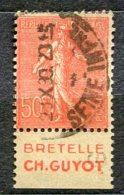 2698 - FRANCE  N° 90a °  BRETELLE   CH. GUYOT    TTB - Advertising