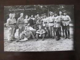 Carte Photo Gendarmes Autour D'un Side Car ( Moto) Vers 1930 Gendarme Gendarmerie - War, Military