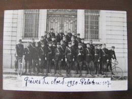 Carte Photo Gendarmes  Greve Du Nord  1930 Peloton 1907 )  1930 Gendarme Gendarmerie - War, Military